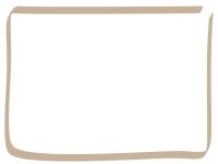 手書き風のシンプルなフレーム飾り枠イラスト