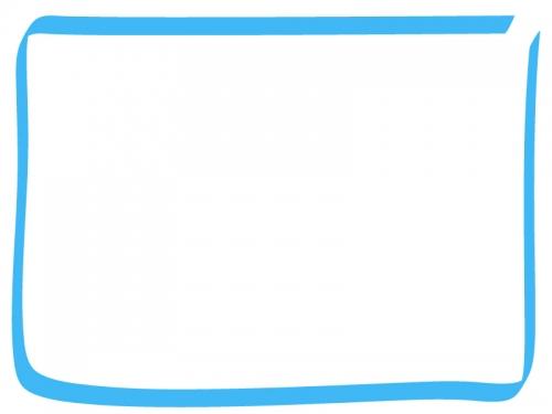 手書き風のシンプルなフレーム飾り枠イラスト02