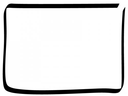 白黒の手書き風のシンプルなフレーム飾り枠イラスト