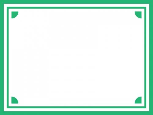 シンプルな四隅フレーム飾り枠イラスト