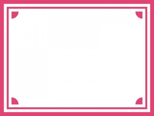 シンプルな四隅フレーム飾り枠イラスト02