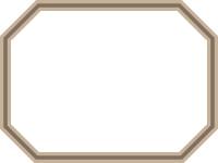 二重線の八角形フレーム飾り枠イラスト