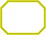 二重線の八角形フレーム飾り枠イラスト02