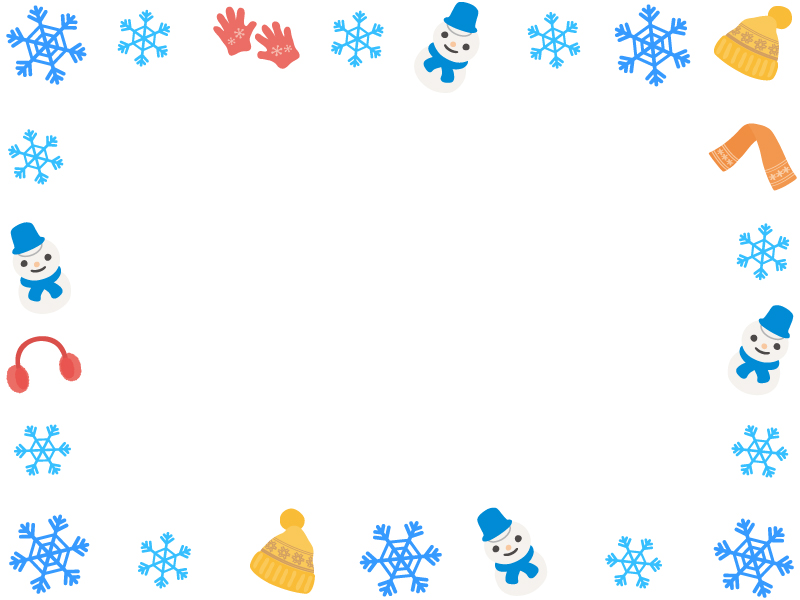 イラスト かわいい 雪だるま