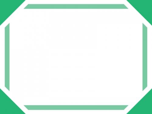 シンプルな太線の四隅フレーム飾り枠イラスト