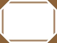 シンプルな太線の四隅フレーム飾り枠イラスト02