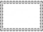 丸ドットのシンプルフレーム飾り枠イラスト