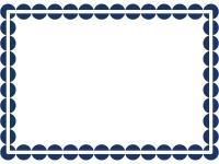 丸ドットのシンプルフレーム飾り枠イラスト02