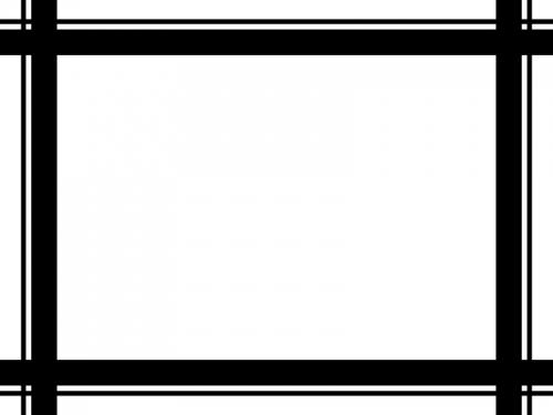 白黒の四角いシンプルな二重線のフレーム飾り枠イラスト