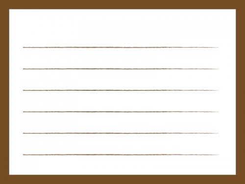 茶色いシンプルな便箋のフレーム飾り枠イラスト 無料イラスト かわいい