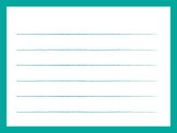 緑色のシンプルな便箋のフレーム飾り枠イラスト