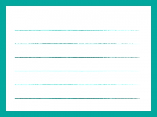緑色のシンプルな便箋のフレーム飾り枠イラスト 無料イラスト かわいい