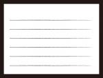 白黒のシンプルな便箋のフレーム飾り枠イラスト