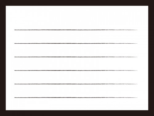 白黒のシンプルな便箋のフレーム飾り枠イラスト 無料イラスト かわいい