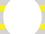 黄色×灰色の楕円風フレーム飾り枠イラスト