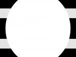 灰色×黒色の楕円風フレーム飾り枠イラスト
