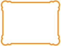 丸い角のシンプルな線のフレーム飾り枠イラスト