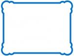 丸い角のシンプルな線のフレーム飾り枠イラスト02