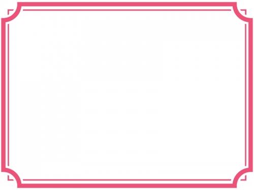 シンプルな二重線の線フレーム飾り枠イラスト