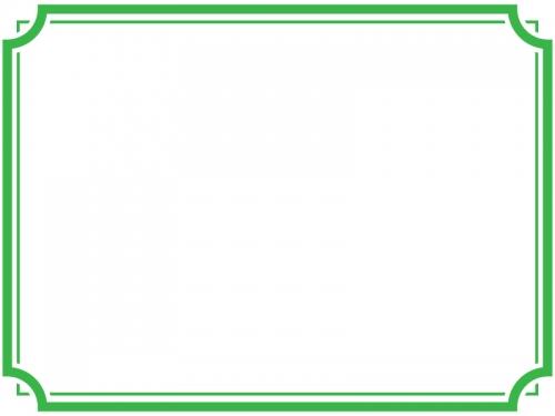 シンプルな二重線の線フレーム飾り枠イラスト02