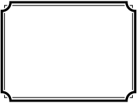 白黒のシンプルな二重線の線フレーム飾り枠イラスト