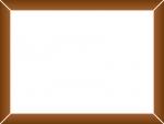 こげ茶色の木製風フレーム飾り枠イラスト