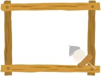 おでんと木製フレーム飾り枠イラスト