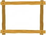 木製のフレーム飾り枠イラスト