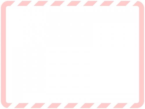 上下の斜めストライプのフレーム飾り枠イラスト02