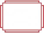 シンプルな線のフレーム飾り枠イラスト