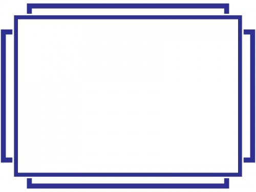 シンプルな線のフレーム飾り枠イラスト02
