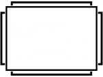 白黒のシンプルな線のフレーム飾り枠イラスト02