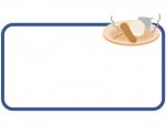 おでんの紺色のフレーム飾り枠イラスト