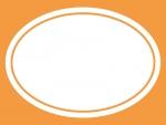 シンプルな楕円の線フレーム飾り枠イラスト02