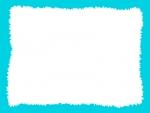 ラフなギザギザ模様のフレーム飾り枠イラスト03