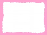 ラフなギザギザ模様のフレーム飾り枠イラスト04