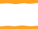 上下の波線のフレーム飾り枠イラスト