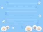 かまくらと雪の便箋フレーム飾り枠イラスト