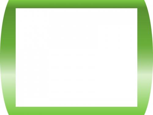 グリーングラデーションのフレーム飾り枠イラスト02