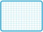 水色の方眼紙風のフレーム飾り枠イラスト