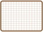 茶色の方眼紙風のフレーム飾り枠イラスト