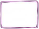 手書き風多重線のフレーム飾り枠イラスト02