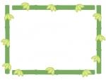 竹の和風囲みフレームの飾り枠イラスト