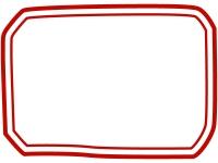 手書き風二重線のシンプルフレーム飾り枠イラスト03