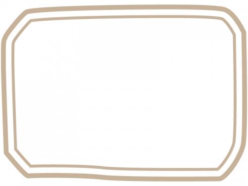 手書き風二重線のシンプルフレーム飾り枠イラスト04