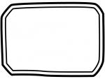 白黒の手書き風二重線のシンプルフレーム飾り枠イラスト02