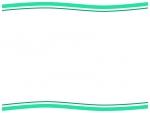 シンプルな上下の二重波線フレーム飾り枠イラスト
