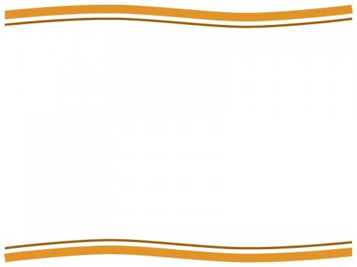 シンプルな上下の二重波線フレーム飾り枠イラスト02