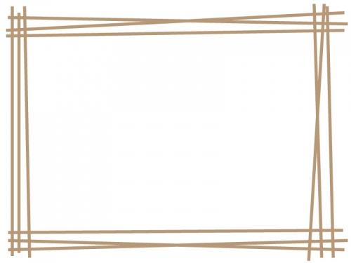 手書き風多重線のフレーム飾り枠イラスト03