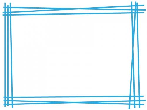 手書き風多重線のフレーム飾り枠イラスト04